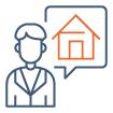 Icône Services Immobiliers pour les expatriés