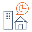 Icone représentant les études immobilières