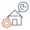 Icone représentant la rationalisation d'actifs immobiliers