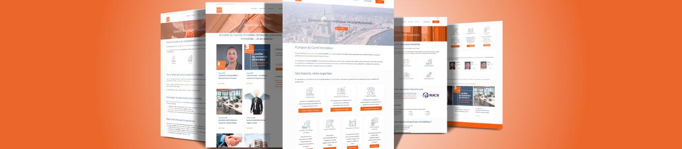 Nouveau site internet de Carré Immobilier