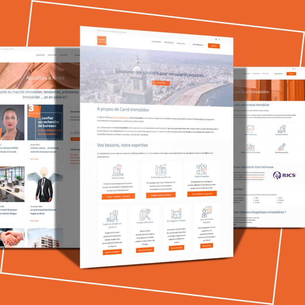 Le nouveau site web de Carré Immobilier