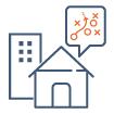 icone représentant la stratégie de commercialisation de programmes immobiliers