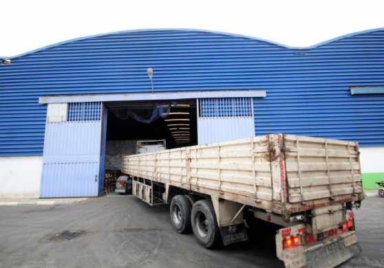 Entrée d'un entrepôt en location à Sidi Moumen Casablanca Maroc